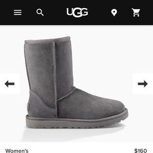 Ugg classic short boots size 10